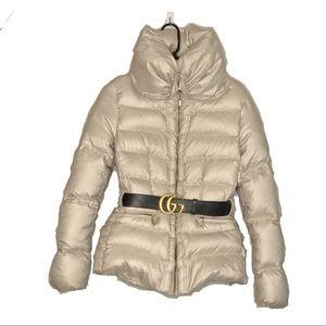 ZARA Down Feather High Neck Puffer Coat